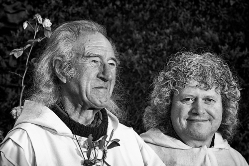 Two men at the neopagans gathering in the UK
