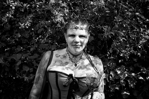 Woman portrait at the neopagans gathering in the UK