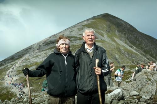 Portrait of Croagh Patrick pilgrims