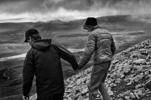 Croagh Patrick pilgrims descent from the mountain