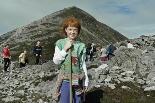 Portrait of a girl, a Croagh Patrick pilgrim