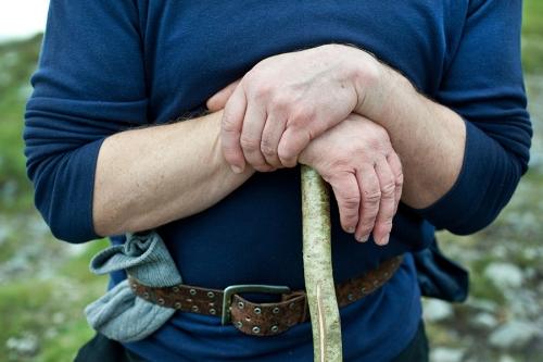 Hands of the Croagh Patrick pilgrim