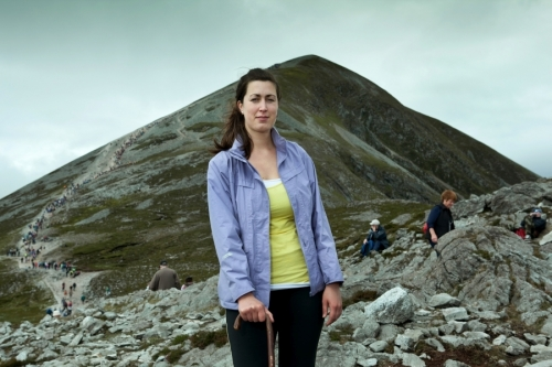 Portrait of woman, a Croagh Patrick pilgrim