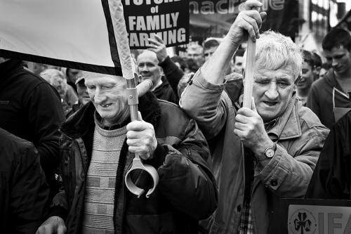 Farmers' protest in Dublin