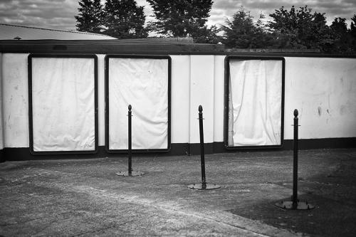 Empty advertising panels