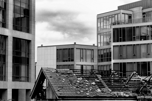 New and old buildings, Dublin