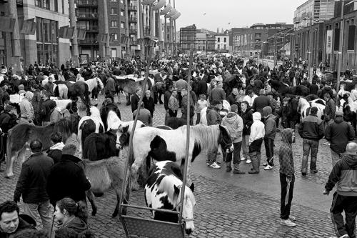 Crowd at Smithfield horse fair, Dublin
