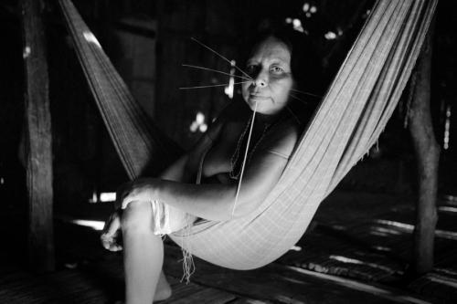 006. Matses woman in the hammock